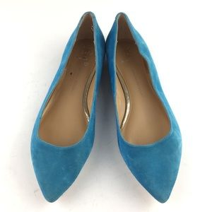Banana Republic Turquoise Suede Pointy Flats 8 NEW